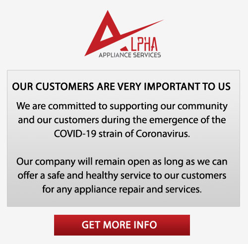 Alpha Appliance Coronavirus Customer Care